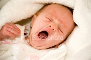 Baby menguap